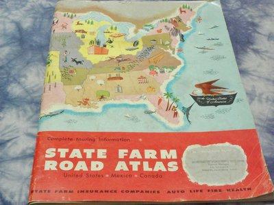 紅色小館~~united states state farm road atlas美國國營農場道路地圖集1977年~Y1