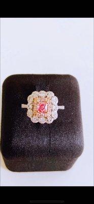 囍喆GIA Fancy Purplish Pink 頂級0.41ct粉紅鑽戒(售價僅供參考,實際售價以來電為準)