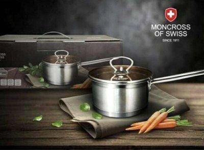 🐼芙胖達🐼 MONCROSS 不鏽鋼琥珀單柄鍋 湯鍋 16cm(附蓋)