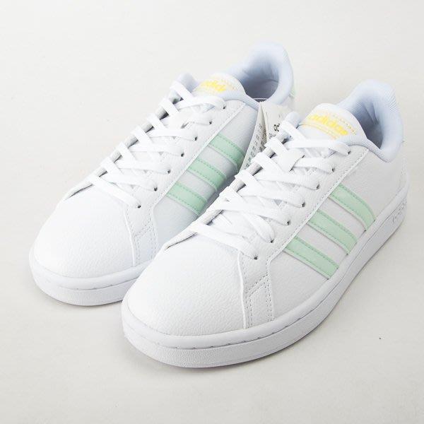 ADIDAS GRAND COURT  女復古休閒鞋-白/綠 EG7643  現貨