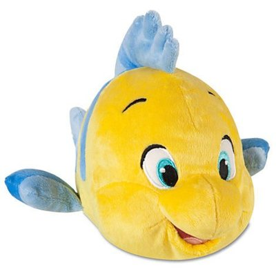 ╭☆HAPPY城堡☆╮Disney美國玩偶~美人魚公主之小比目魚~26cm L