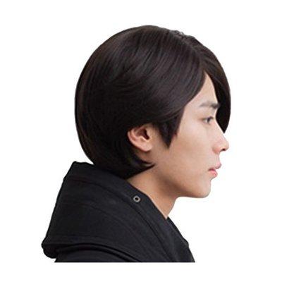 整頂 假髮 真髮絲-短直髮全手織內網男假髮73vb26[獨家進口][米蘭精品]