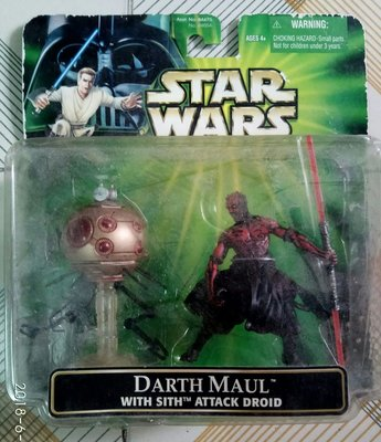 HASBRO KENNER 星球大戰 DARTH MAUL with SITH ATTACK DROID 全新 未開