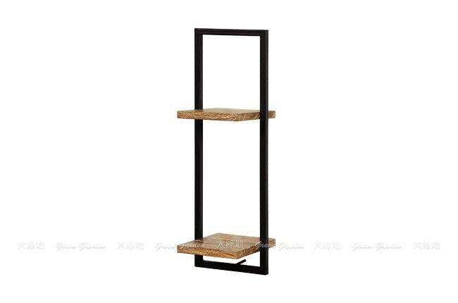 柚木鐵件 日字組合壁架D(W25)【大綠地家具】100%印尼柚木實木/工業風/置物架/DIY組裝