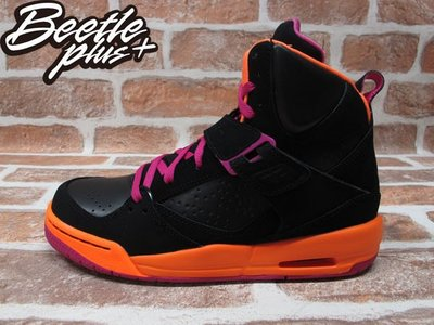 BEETLE PLUS NIKE AIR JORDAN FLIGHT 45 HIGH GS 黑橘粉 FLORIDA 佛羅里達 524864-028 24 CM