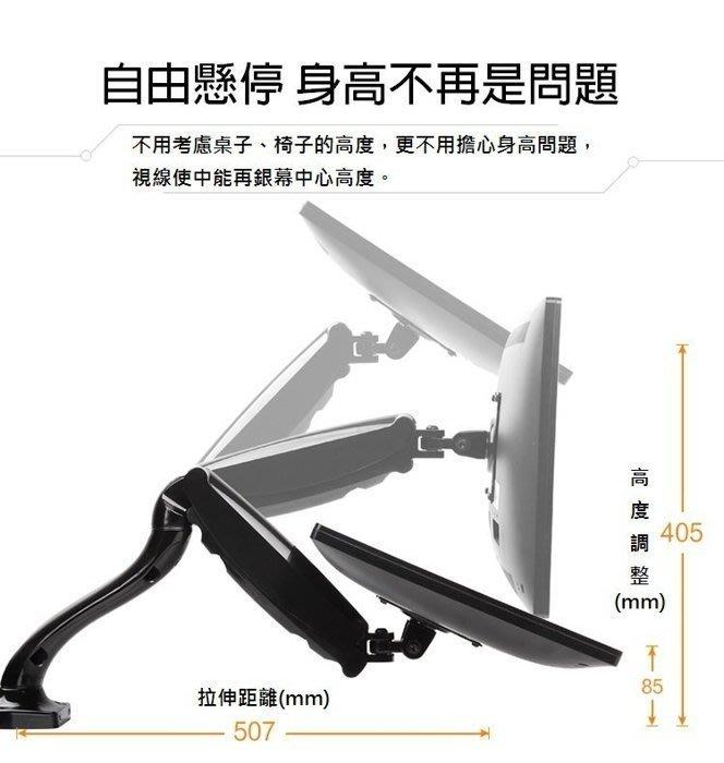 電視架 電腦架 螢幕架 壁掛架 多角度 360度 無限角度 多向可調 隨拉隨停 氣壓簧 台中 自取 人體工學 夾桌 雙臂