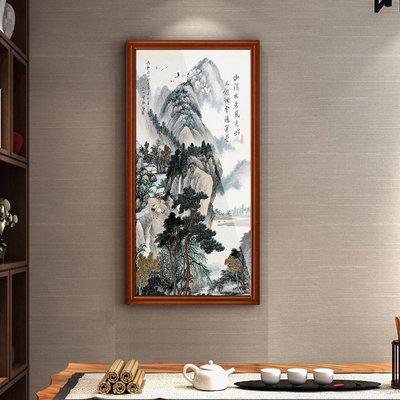 掛畫 居家生活山水畫風水靠山客廳裝飾畫辦公室玄關掛畫新中式水墨風畫招財壁畫台北百貨