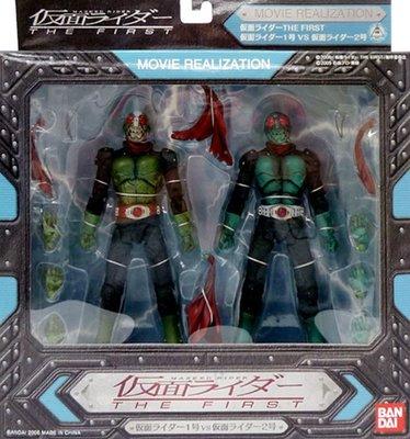 日本正版 萬代 MOVIE REALIZATION 假面騎士1號 假面騎士2號 模型 公仔 日本代購