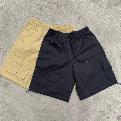 【inSAne】韓國購入 / 多口袋 / 工作短褲 / 單一尺寸 / 黑色 & 駝色