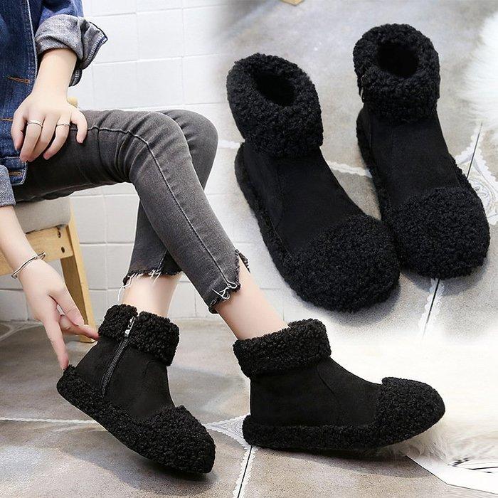 【華麗登場】雪地靴雪地靴女2018冬季棉鞋女毛毛鞋韓版百搭女靴加絨保暖靴子優質好貨韓版