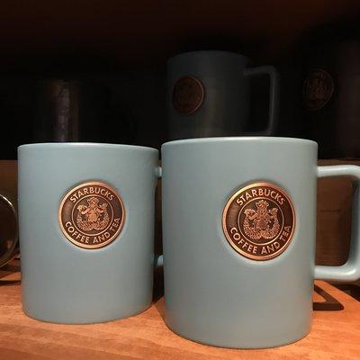 全新 台灣代購 星巴克 starbucks 復古 藍色 馬克杯 473ML 正品 現貨(可旺角門市自取)