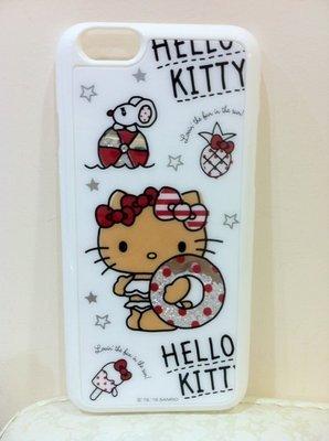 《東京家族》白 海灘 晶鑽 Kitty iphone 6 /6S 手機硬殼
