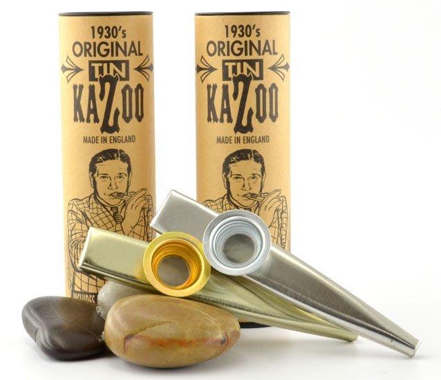 ☆ 唐尼樂器︵☆ Clarke Original TIN Kazoo 金屬卡祖笛(金色/銀色) 英國製