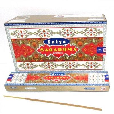 [晴天舖] 印度線香 Satya SAGAROMA 金牌特級線香 15G(調和花草香) 3盒100~另售MEDIMIX