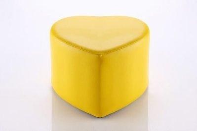 【家具先生】SC-002-YL  心型沙發椅凳(黃)