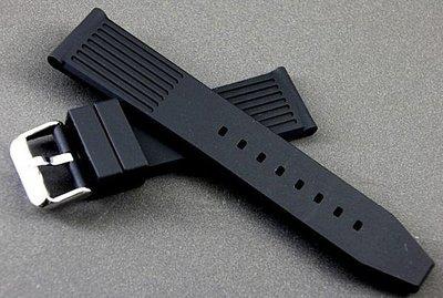 艾曼達精品~24mm歐洲新款高質感柵欄型矽膠錶帶不鏽鋼扣hamilton iwc seiko panerai