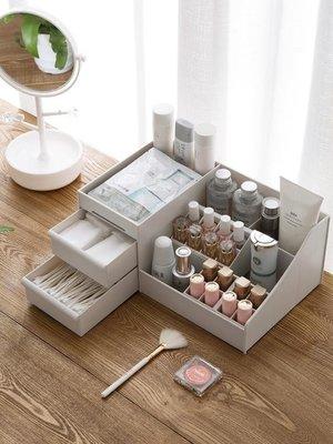 收納盒居家家 化妝品收納盒桌面遙控器整理盒 分格化妝刷口紅面膜置物架