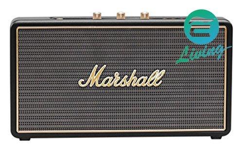 【易油網】英國 Marshall Stockwell 黑色 攜帶式附皮套 無線 藍芽 喇叭 音箱 復古音響 平輸