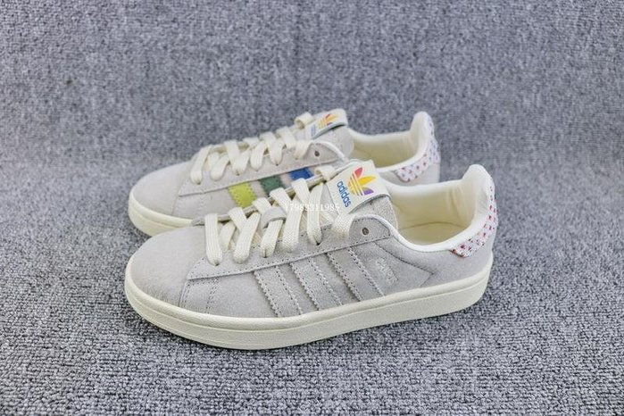 Adidas PRIDE CAMPUS 卡其 復古 流行 經典 彩虹 休閒滑板鞋 男女鞋 B42000