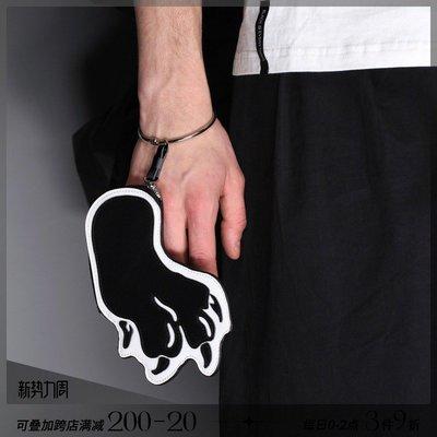 韓風專櫃飾品BLACKHEAD黑頭/創意設計神獸爪牛皮零錢包卡包手腕包趣味男女同款