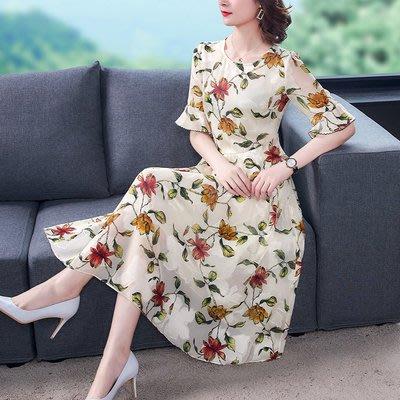 9105法式減齡碎花連衣裙夏2020年新款貴夫人典雅氣質中袖裙子
