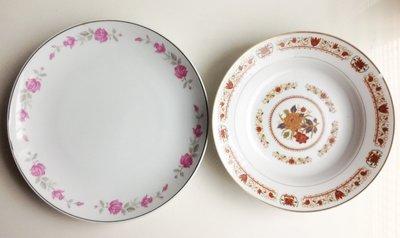 《**古早味柑仔店** 》  精美大型瓷盤、大圓盤、羹盤~ 早期大同承製瓷器