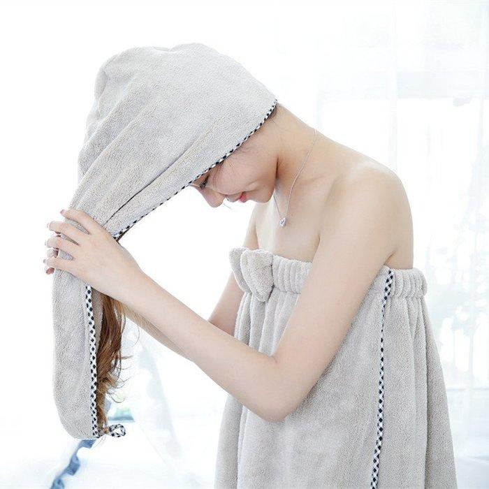 韓國超強吸水幹發帽女速幹毛巾擦頭發成人長發可愛包頭幹發巾浴帽
