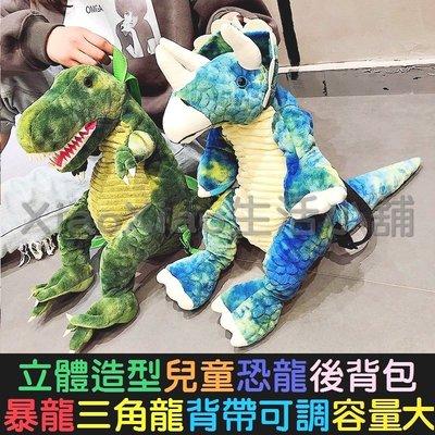 【現貨 恐龍背包、暴龍、三角龍】恐龍後背包、侏儸紀公園、立體造型、兒童大人背包、酷斯拉