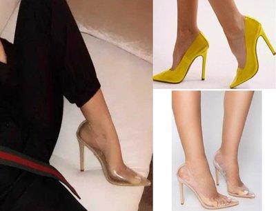 波蘭名品 歐美網紅超時尚 IG爆款透明高跟鞋透明鞋尖頭細跟 多色實拍 kim kardashine 金卡黛珊
