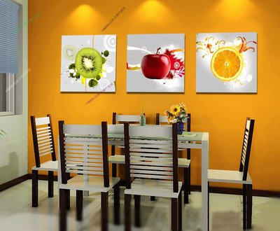 【70*70cm】【厚0.9cm】水果-無框畫裝飾畫版畫客廳簡約家居餐廳臥室牆壁【280101_035】(1套價格)