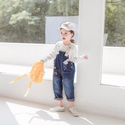 【Mr. Soar】 A3013 秋季新款 韓國style童裝女童吊帶牛仔褲 中大童 現貨+預購