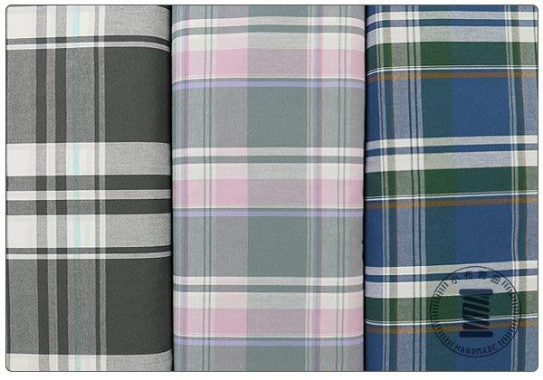 ✿小布物曲✿跳色格紋 100%純棉布 日本進口布料質感優 共3色 窄幅110CM 單價/尺