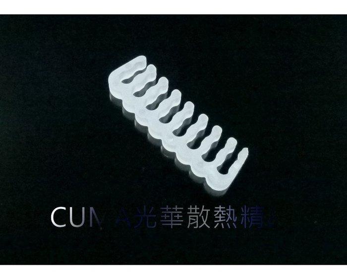 光華CUMA散熱精品*整線材料 PVC 蛇皮網 編織網 理線排 理線梳 16PIN 顯示卡8+8PIN用 白色~現貨