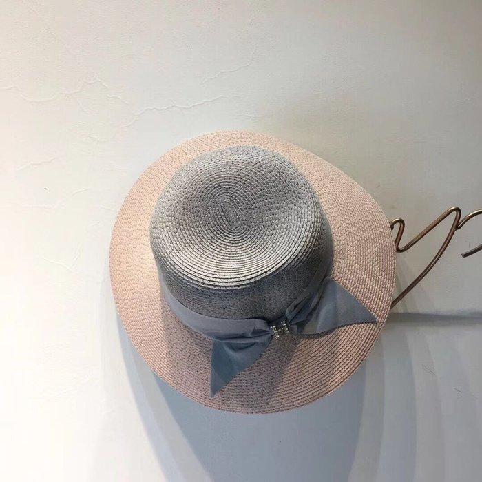 (輕舞飛揚)2019新款草編拼接色可摺疊盆帽草帽,做工細節精細,簡約大方,百搭單品~出街首選,真的超美!