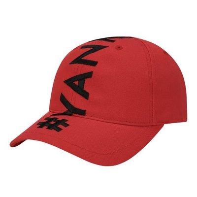 特價【韓Lin連線代購】韓國 MLB--黑色刺繡紅棒球帽HASHTAG WORDING EMBROIDERY POINT