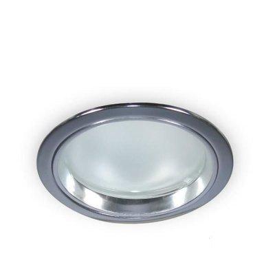 銀色E27橫插防眩崁燈15公分崁燈/ 橫插銀色邊框崁燈~加玻e27崁燈~15公分崁燈