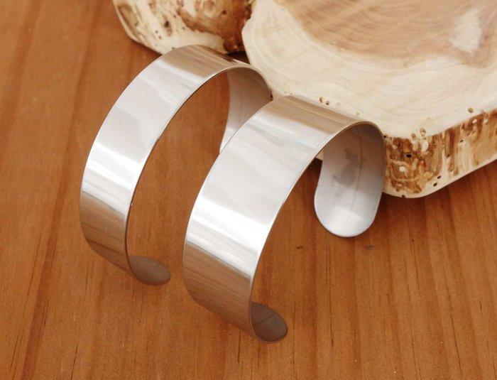 手鐲 内芯 皮革手環芯 手環 手環芯 寬2cm 1入 DIY 304不銹鋼 鋼圈 開口鋼圈