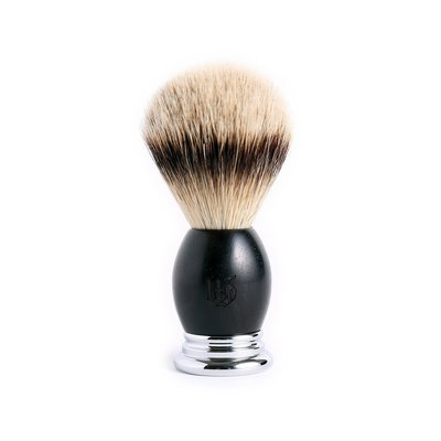英國 Grand Manner 尊爵系列 特級銀尖獾毛鬍刷(黑檀木 / Shaving Brush)