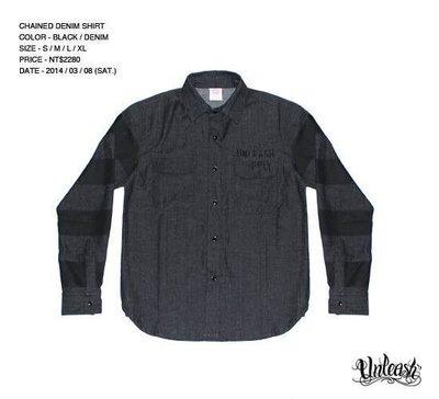 【AXE】UNLEASH - CHAINED SHIRT 牛仔囚犯襯衫[黑]西岸 潮流 街頭 刺青 SOCAL 滑板
