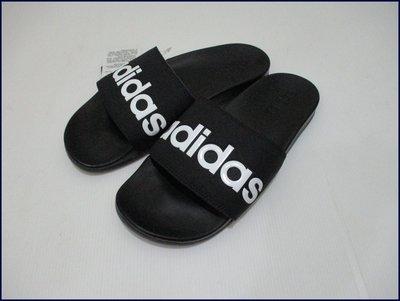【喬治城】ADIDAS 男/女款 ADILETTE COMFORT 柔軟底運動拖鞋 黑色 B42207