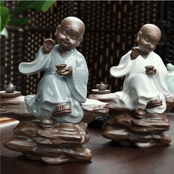 5Cgo【茗道】含稅會員有優惠 27157184002 茶寵擺件功夫茶具配件套裝茶道茶玩哥窯汝窯品茶可愛小和尚彌勒佛