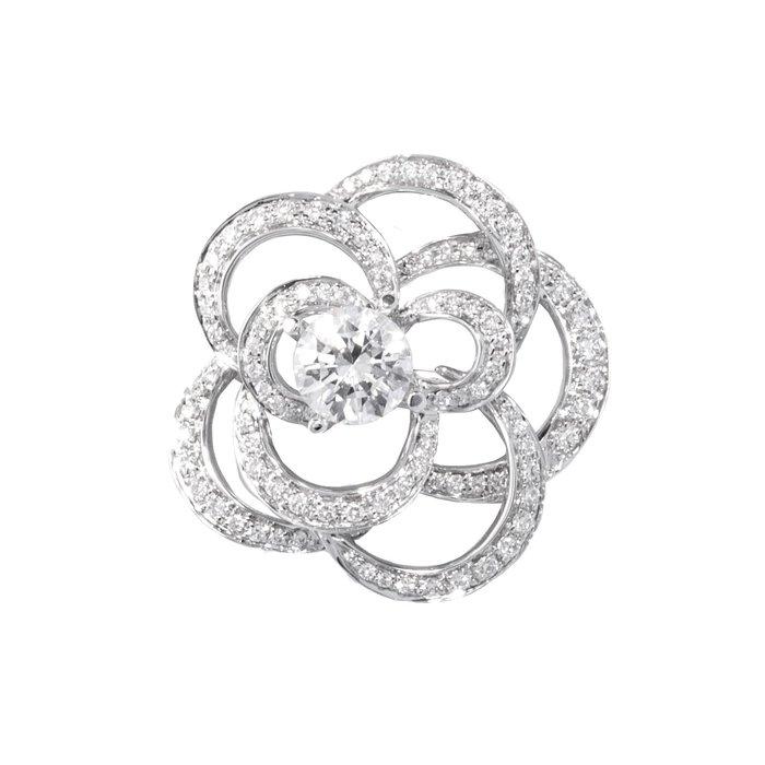 【JHT金宏總珠寶/GIA鑽石專賣】天然鑽石山茶花鑽墜/材質:18K(PDO14102)