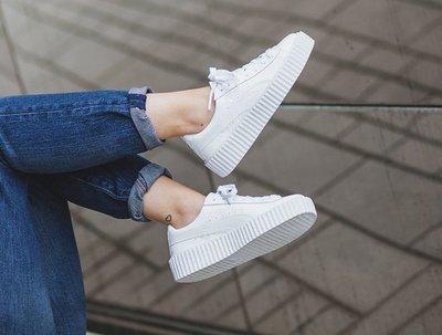 PUMA 彪馬 蕾哈娜 全白鏡面 真標彪馬 鬆糕鞋 全白漆皮亮面女鞋 板鞋 增高鞋 小白鞋 36-44
