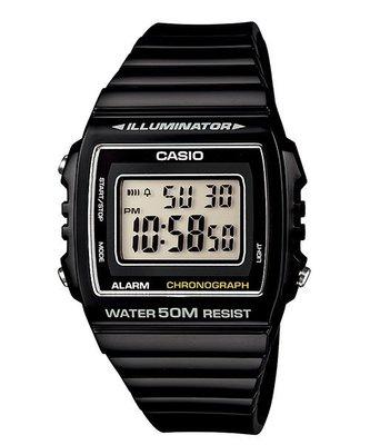 CASIO 卡西歐 方形數字錶大型的液晶錶面防水50米LED背光照明W-215H-1A ( 215 H 1 )學生錶 基隆市