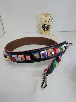FENDI  芬迪 立體 彩色 寬版包包背帶🌈[美品]🎁