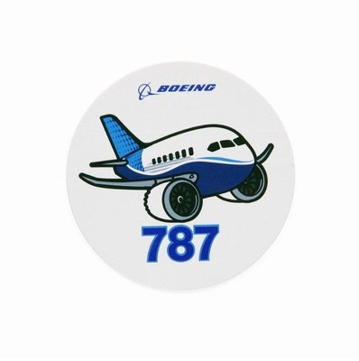 官方版 Boeing 波音 787 飛機 Q版貼紙 Pudgy Sticker