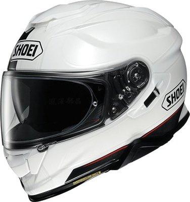 瀧澤部品 日本 SHOEI GT-AIR II 2 全罩安全帽 TC-6 REDUX 白黑 彩繪 加長內墨片 通風透氣