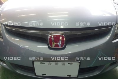 大台北汽車 HONDA 喜美八代 k12 TYPE-R 前後 紅標誌 MUGEN 紅H標 台北威德 CIVIC 8 9 新北市