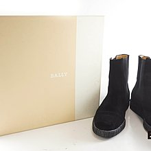 [Eco Ring HK]*Bally Short Boots Size 36.5 Black Suede*Rank B-197010594-