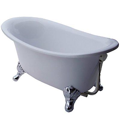 I-HOME 台製 浴缸 M1型銀腳(100cm) 獨立浴缸 壓克力缸 空缸 泡澡保溫 浴缸龍頭需另購